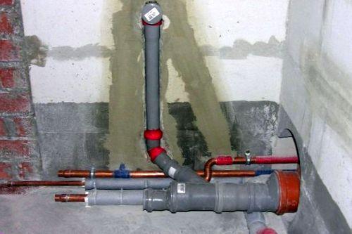 Подвод и отвод воды к водонагревателю