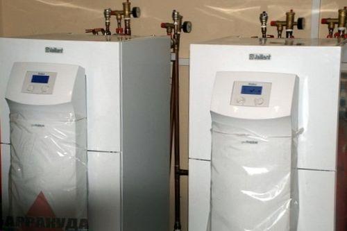 Установка теплового газового оборудования